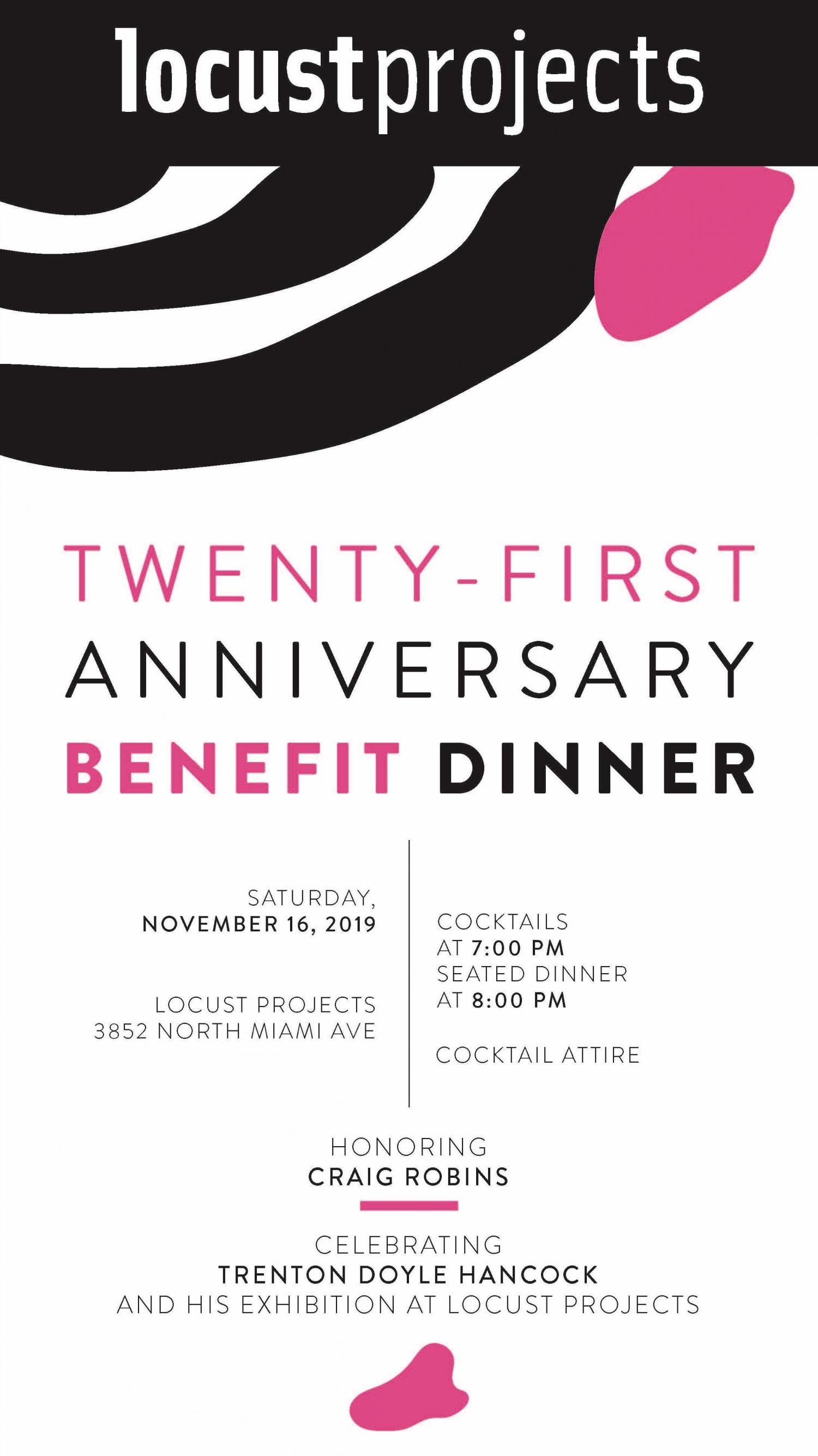 21st Anniversary Benefit Dinner