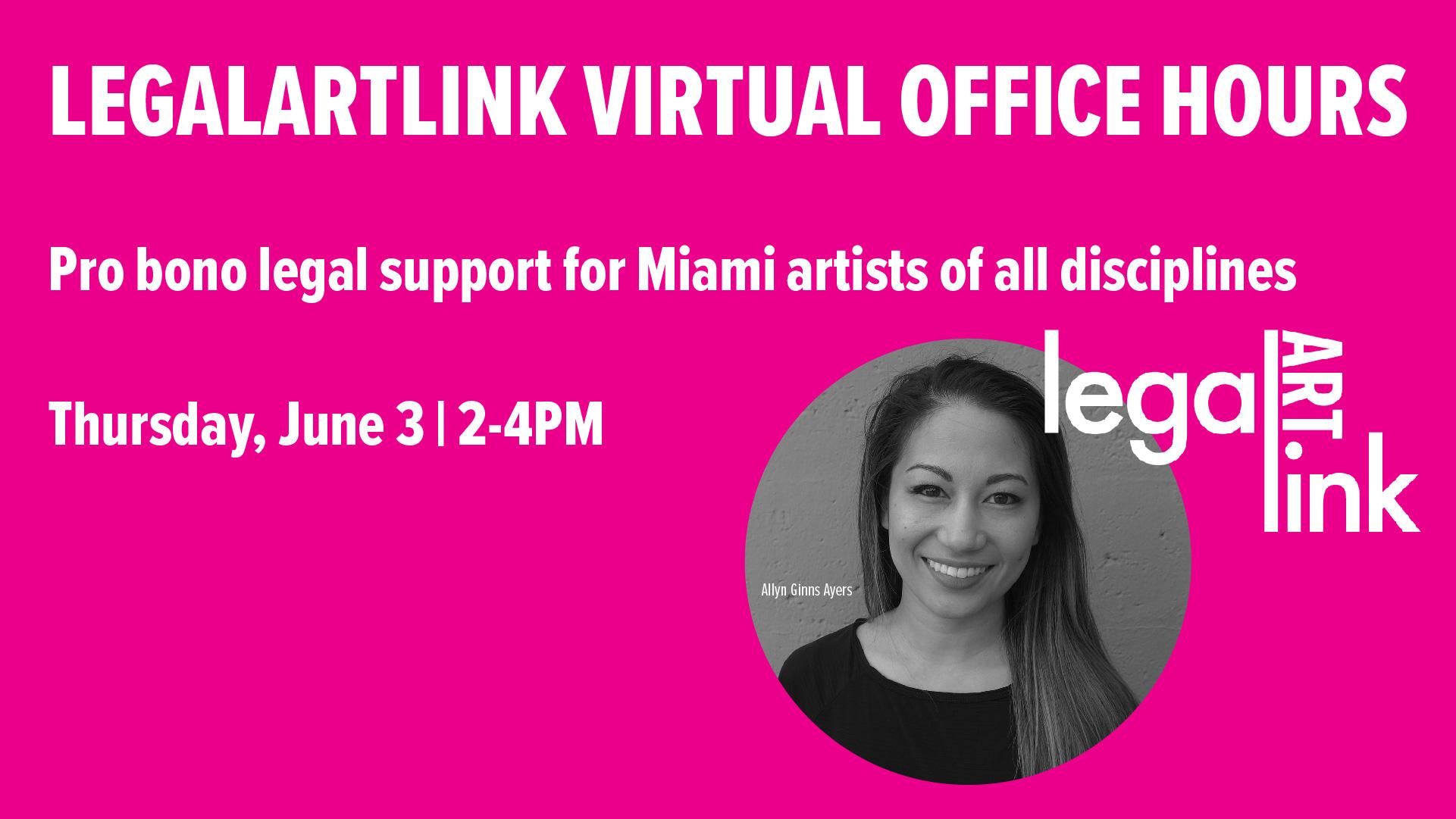 LegalARTLink Virtual Office Hours